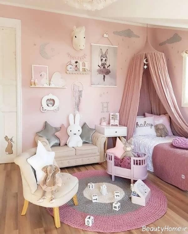 دیزاین داخلی اتاق خواب دخترانه نوجوان