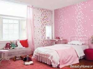 دکوراسیون شیک و جدید اتاق خواب دخترانه