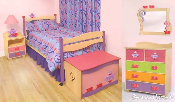 طراحی زیبا و شیک اتاق دخترانه