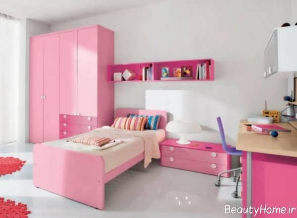 دکوراسیون صورتی اتاق دخترانه