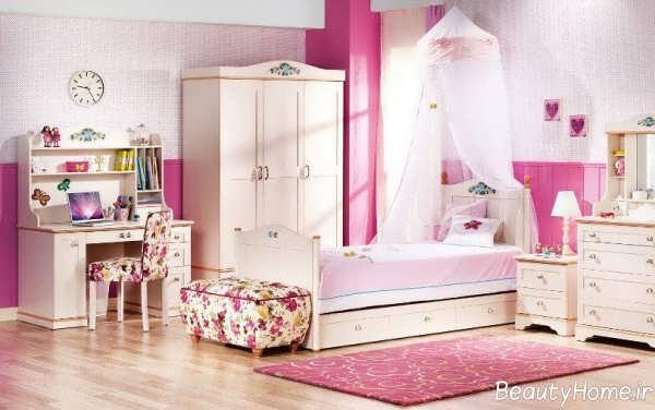 دکوراسیون صورتی اتاق خواب