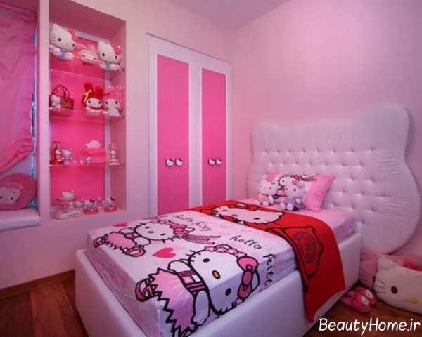 دکوراسیون زیبا و شیک اتاق دخترانه
