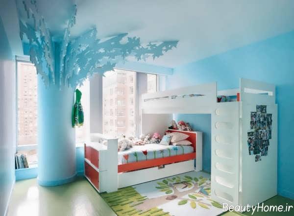 دکوراسیون زیبا و مدرن اتاق دخترانه