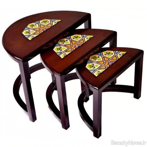 مدل میز طرح دار عسلی