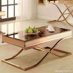 میز فلزی عسلی