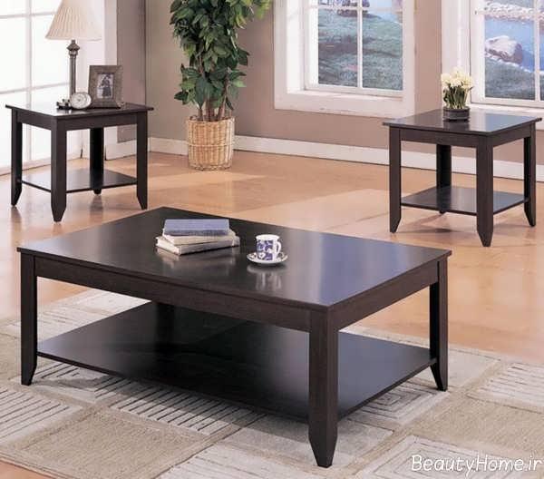 مدل میز ساده و زیبا جلو مبلی