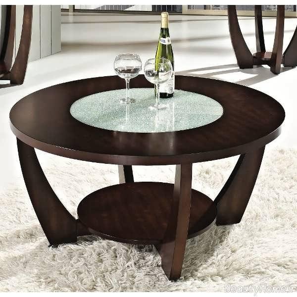 میز چوبی عسلی