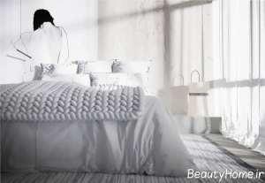 اتاق خواب با تم سفید
