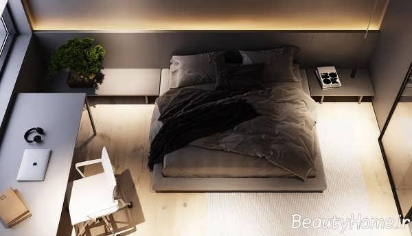 اتاق خواب و نورپردازی تاکیدی