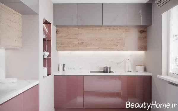طراحی آشپزخانه تیره