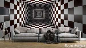 مدل کاغذ دیواری مشکی و سفید