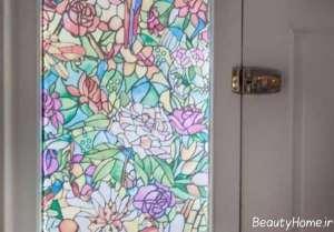 مات کننده رنگی طرح دار برای شیشه