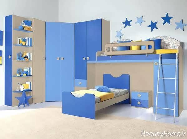 دکوراسیون آبی اتاق کودک