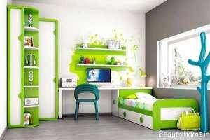 دکوراسیون سبز اتاق کودک