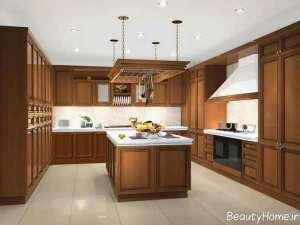 مدل کابینت آشپزخانه کلاسیک