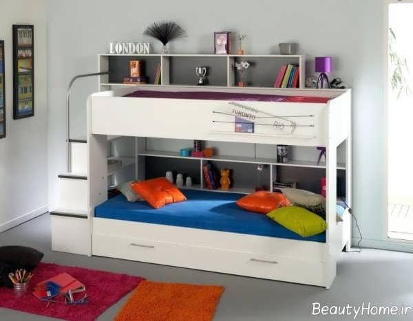 تخت خواب سفید و شیک