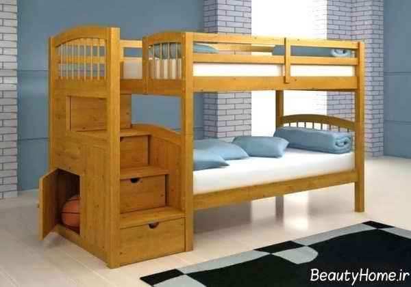 تخت خواب شیک و چوبی