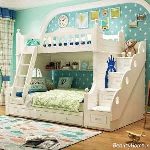 تخت خواب شیک و دو طبقه