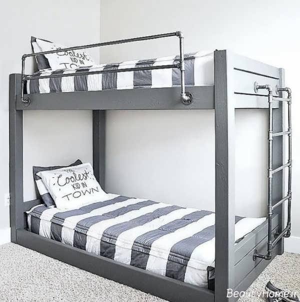 تخت خواب زیبا و دو طبقه