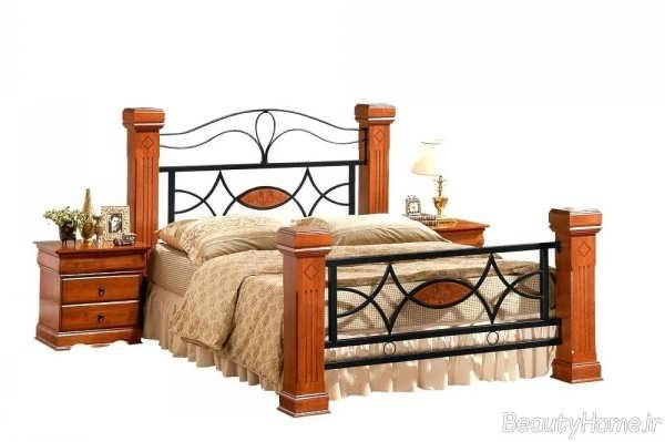 تخت خواب زیبا و فلزی