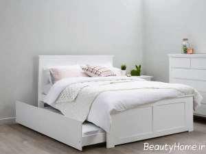 مدل تخت خواب زیبا و سفید