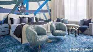 دکوراسیون آبی اتاق خواب