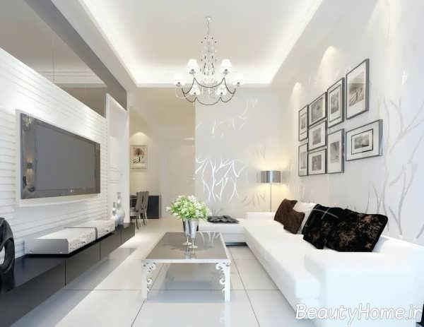 دکوراسیون سفید و مدرن منزل