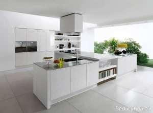 طراحی داخلی آشپزخانه مدرن و سفید
