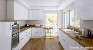 طراحی داخلی آشپزخانه با رنگ سفید