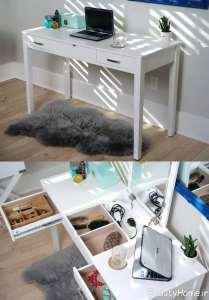 میز آرایش با فضای مخفی