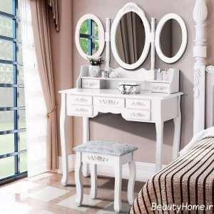 میز آرایش سه آینه ای