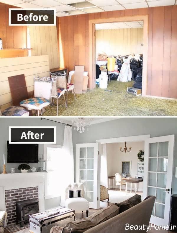بازسازی دیزاین اتاق پذیرایی