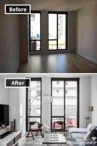 بازسازی نورپردازی آپارتمان