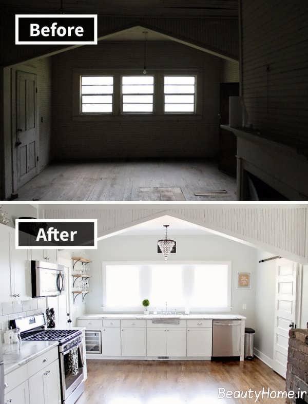 بازسازی چیدمان آشپزخانه