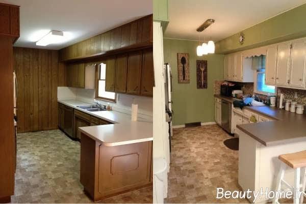 بازسازی شیک آشپزخانه قدیمی