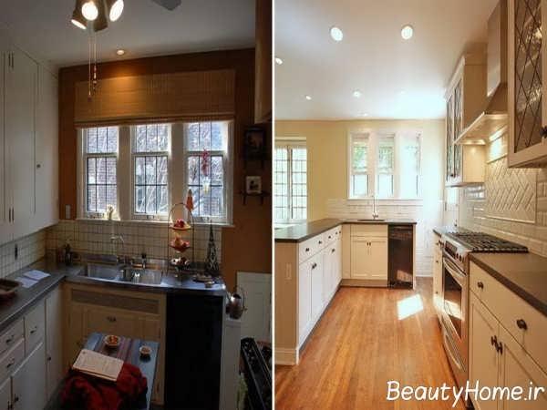 آشپزخانه مدرن چوبی