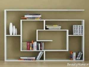 کتابخانه ساده و زیبا