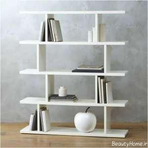 قفسه کتاب زیبا و ساده