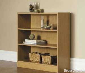 مدل قفسه کتاب چوبی