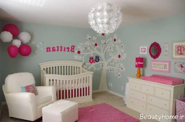 دکوراسیون فانتزی اتاق نوزاد