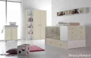 دکوراسیون ساده و مدرن اتاق نوزاد
