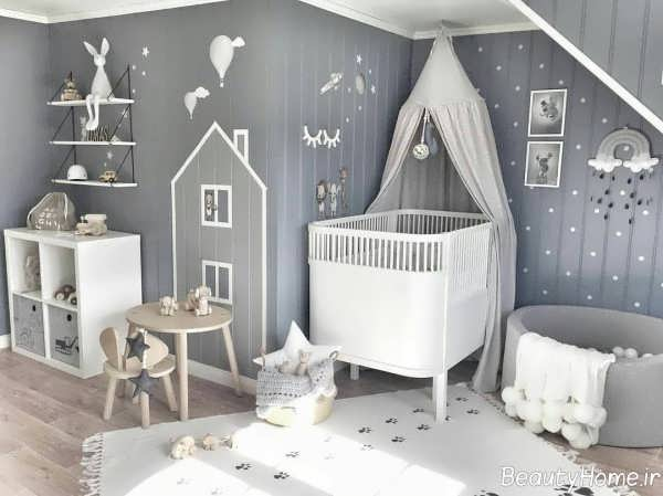 طراخی داخلی اتاق نوزاد