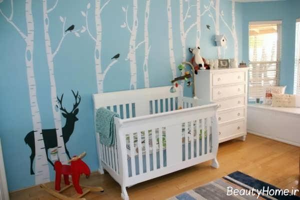 طراحی زیبا و مدرن اتاق نوزاد