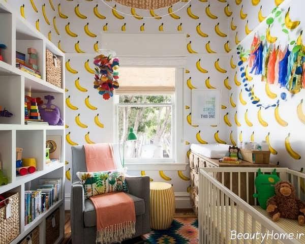 دکوراسیون شیک و کاربردی اتاق نوزاد