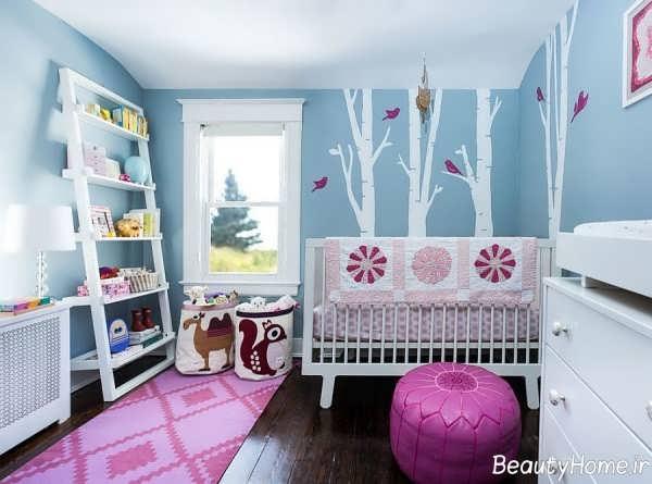 دکوراسیون زیبا و کاربردی اتاق نوزاد