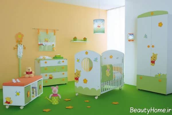 دکوراسیون سبز اتاق نوزاد