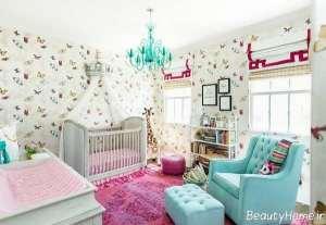 دکوراسیون اتاق نوزاد دخترانه