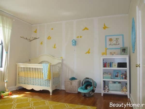 دیزاین زیبا و کاربردی اتاق نوزاد