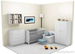 دکوراسیون خاکستری اتاق نوزاد