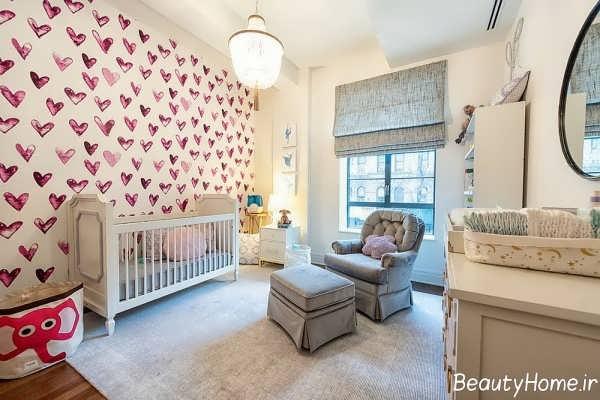 دکوراسیون زیبا و مدرن اتاق نوزاد